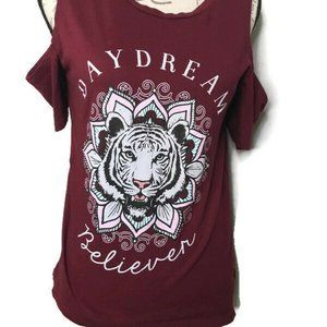 Freeze Cold Shoulder Top Tiger Believe Dream